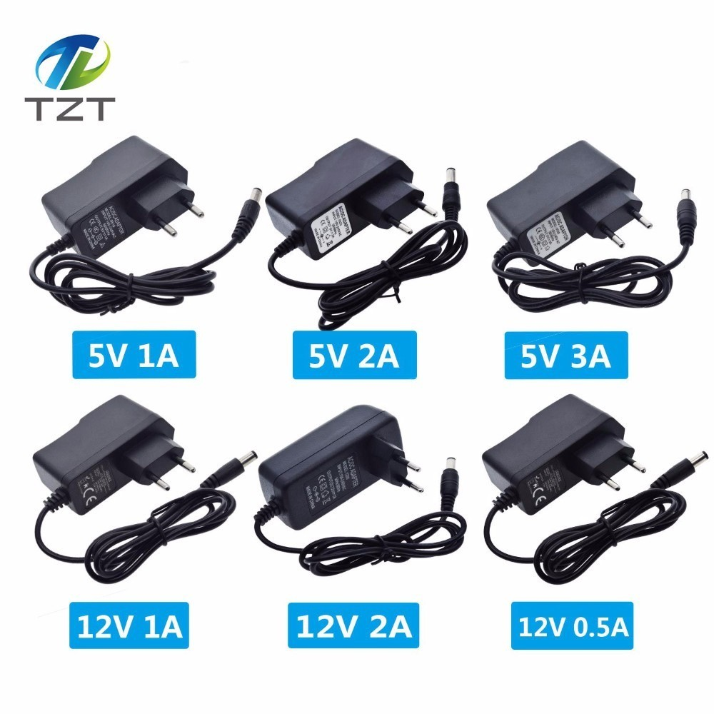 100-240V AC To DC Power Adapter Supply Charger Adapter 5V 12V 1A 2A 3A 0.5A EU Plug 5.5mm X 2.5mm DC Plug  DIY WIFI