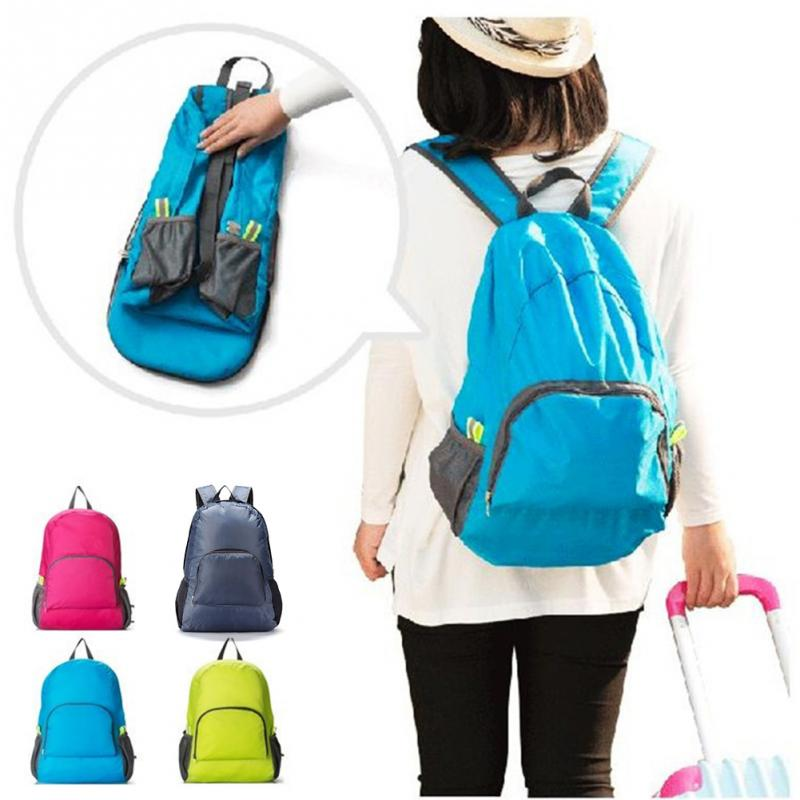 be3b747da15a Lightweight Foldable Waterproof Nylon Travel Outdoor Sports Women Men Skin  Pack Backpack Camping Hiking Bag Rucksack  18-in Climbing Bags from Sports  ...