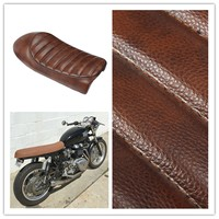 Autoleader ABS+PU Leather Brown Motorcycle Hump Custom Cafe Racer Seat Vintage Saddle For Honda CB350 CB450 CB750 52cmx19cm