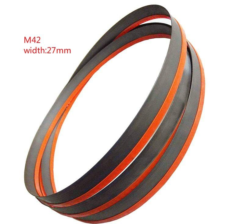 Metalurgia de alta calidad 3660 mm x 27 x 4 / 6tpi Hojas de sierra de cinta bimetálicas M42 de alta calidad envío gratis 1 pedido