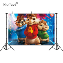 Thin Vinyl Alvin and Chipmunks Simon cute children kids baby Photography Backgrounds professional indoor studio Photo Backdrops