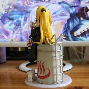 Image 4 - 21cm nouveauté Anime figurine pour aimer Ru obscurité Eve Yami manger Ver daurade brûlé robe noire modèle Collection poupée