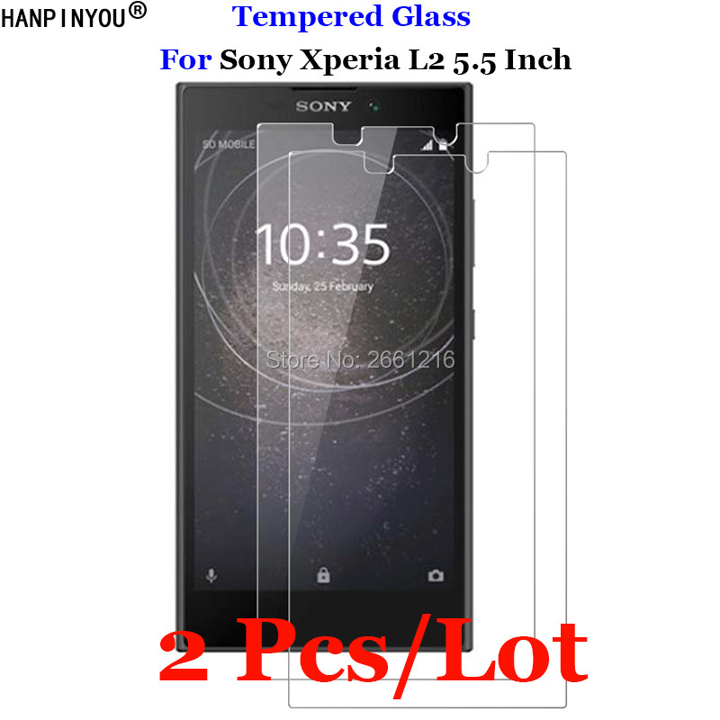 2 Pcs/Lot For <font><b>Sony</b></font> <font><b>Xperia</b></font> L 2 Tempered <font><b>Glass</b></font> 9H 2.5D Premium Screen Protector Film For <font><b>Sony</b></font> <font><b>Xperia</b></font> <font><b>L2</b></font> / Dual H3311 H3321 5.5