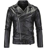 Yeni gelmesi marka motosiklet deri ceket erkekler, erkek deri ceket jaqueta de couro masculina, erkek DERİ CEKETLER mont