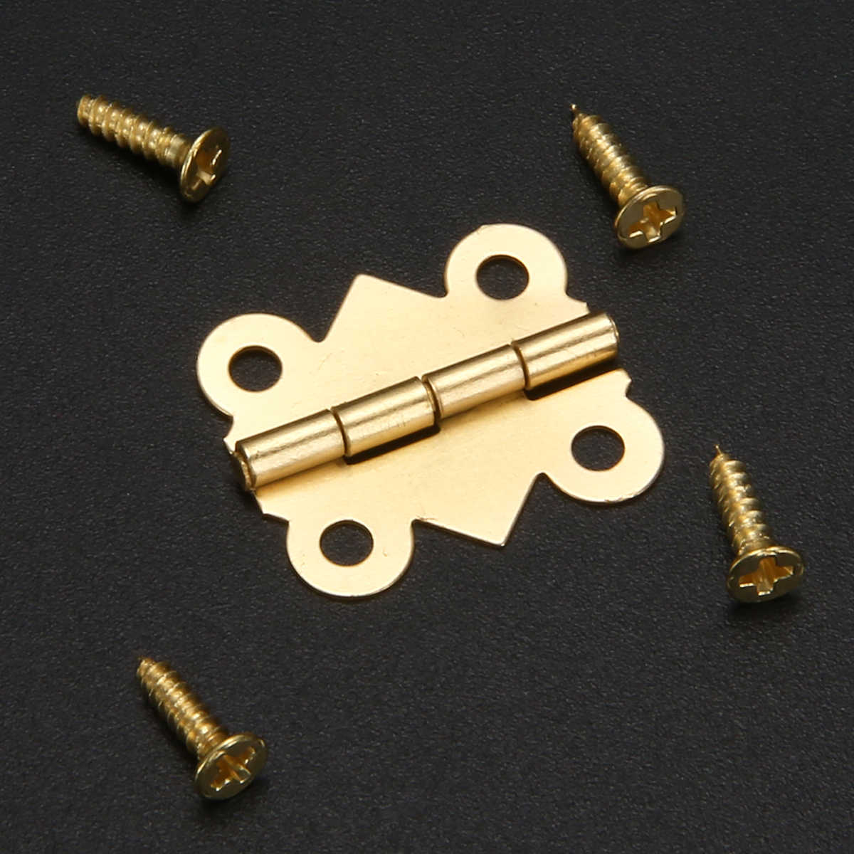 10 Buah/Set Mini Butterfly Besi Engsel Kabinet Laci Pintu Engsel Kotak Perhiasan DIY Alat dengan Sekrup untuk Perangkat Perabot Aksesori