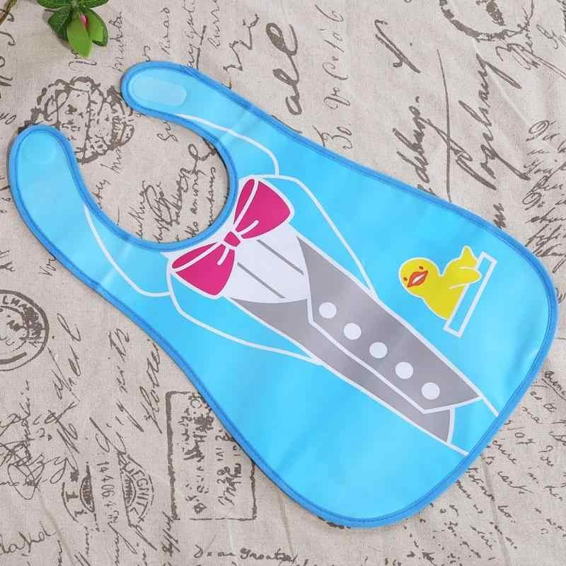Baberos de dibujos animados para bebés y niños fácil de limpiar Toalla de Saliva impermeable lindo babero de alimentación Bandana delantal niña niño babero para niños