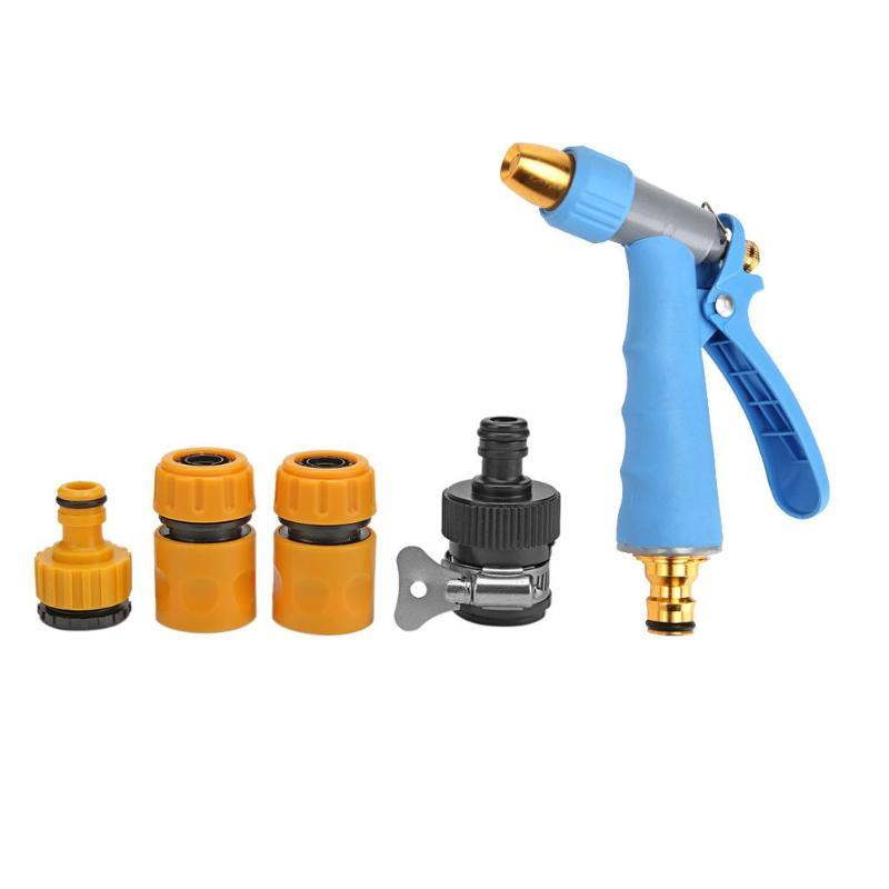 Garden Water Guns 5pcs/set Adjustable Garden Hose Nozzles Water Gun Sprayer For Car Wash Cleaning Lawn Sprinkler Tool To Watering Watering & Irrigation