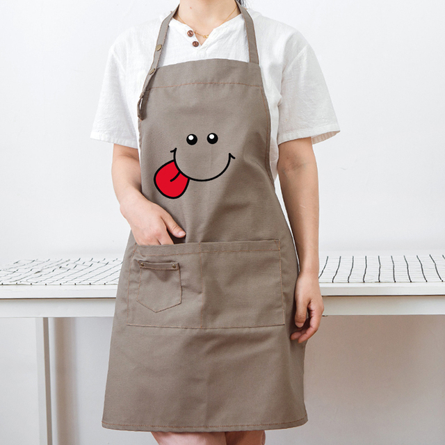 Nordic style simple apron anti-pollution oil-proof kitchen tea coffee shop supermarket men and women overalls
