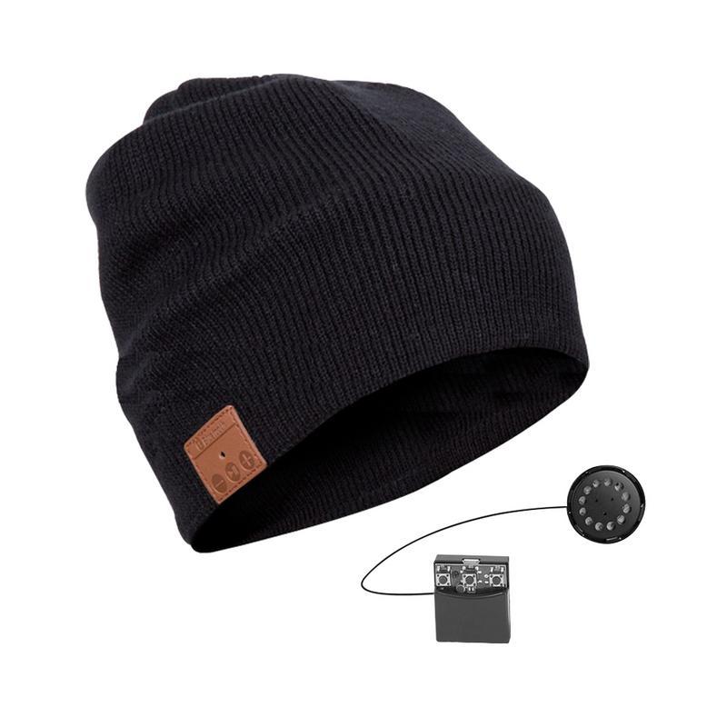 Wireless Bluetooth V4.2 Beanie Knitted Plus Velvet Winter Hat Headset Speaker Mic 6 Hours Long Play Magic Smart Cap