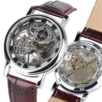 eeee27d20f5d Reloj Mecánico de lujo de marca superior para hombre