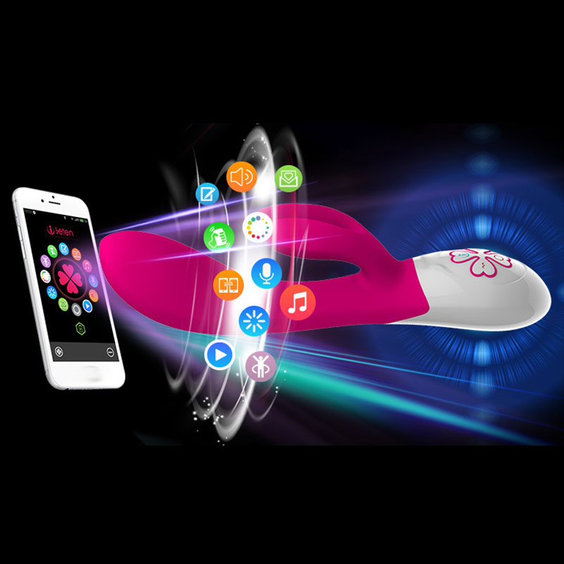 Sex Shop Phone APP Wireless Control Rabbit font b Dildo b font Vibrator Clitoris Stimulation G