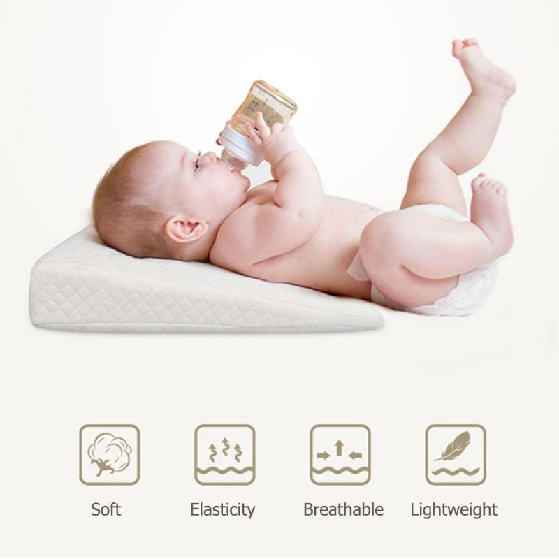 Baby Sleep Pillows Anti Baby Spit Milk Triangle Slope
