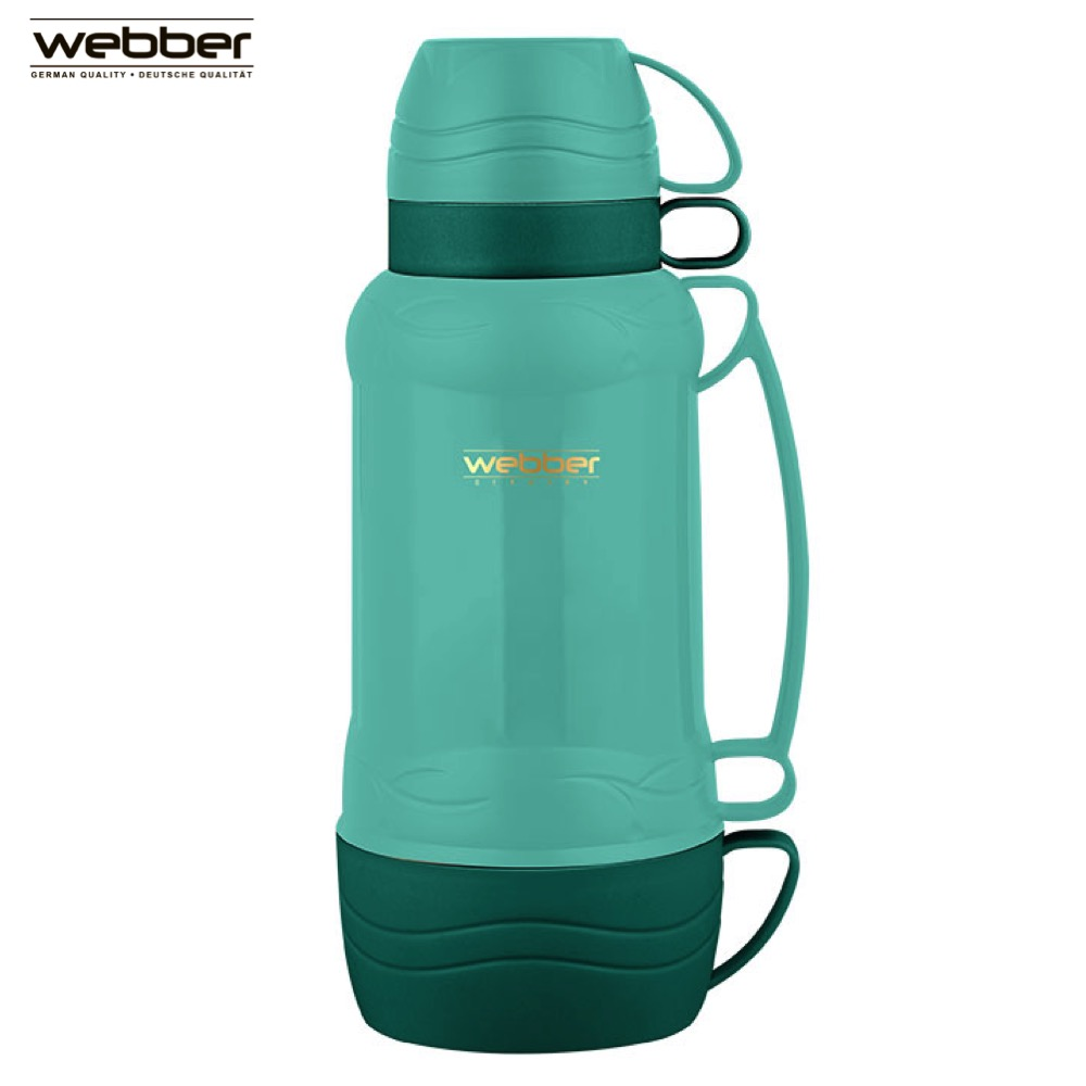 Vacuum Flasks & Thermoses Webber 42001/3S Green thermomug thermos for tea Cup stainless steel water