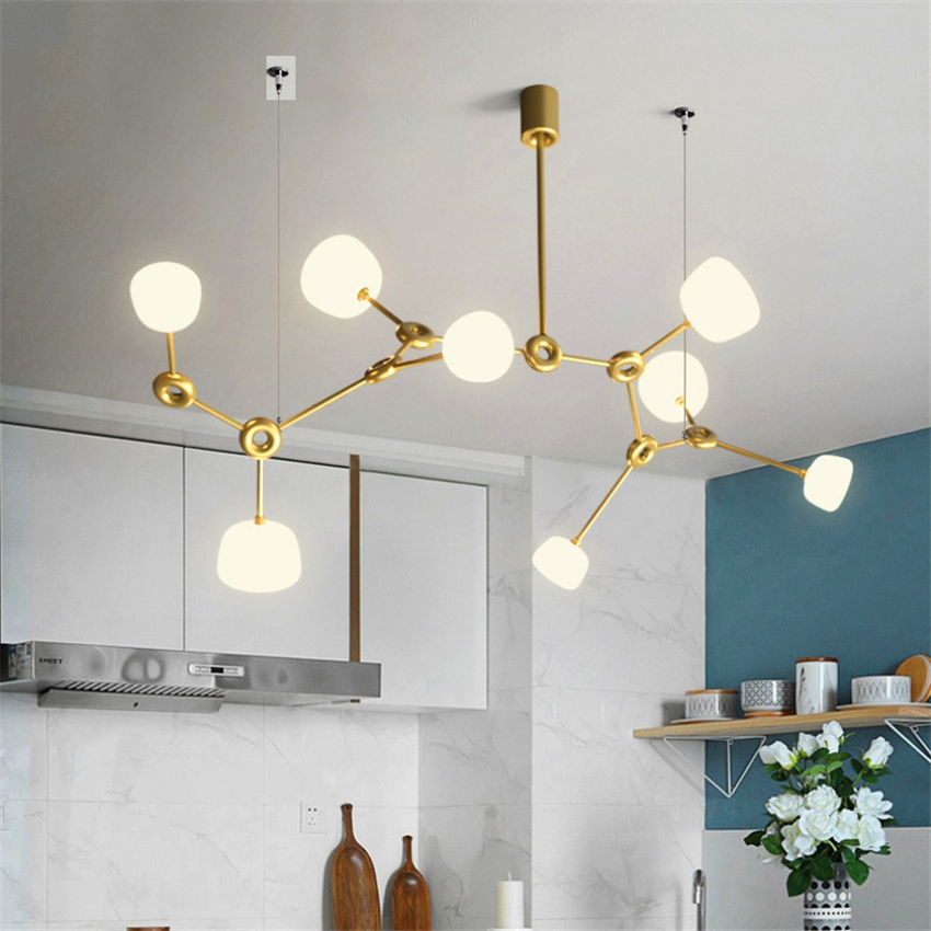 Modern Led G9 Chandelier Lights & Lighting Living Room Restaurant Bedroom Decorative Hanging Lamps Kitchen Fixtures