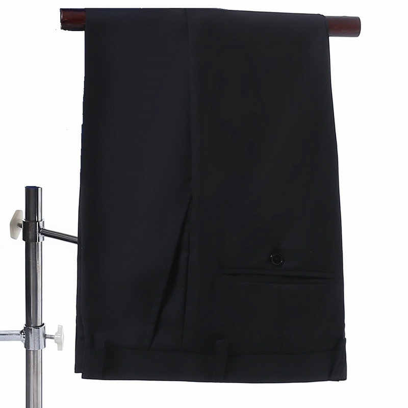 結婚式のスーツ新郎スーツ白のジャケット、黒パンツ中国結び 2019 デザイナーメンズスーツスリムフィット衣装オムマリアージュ