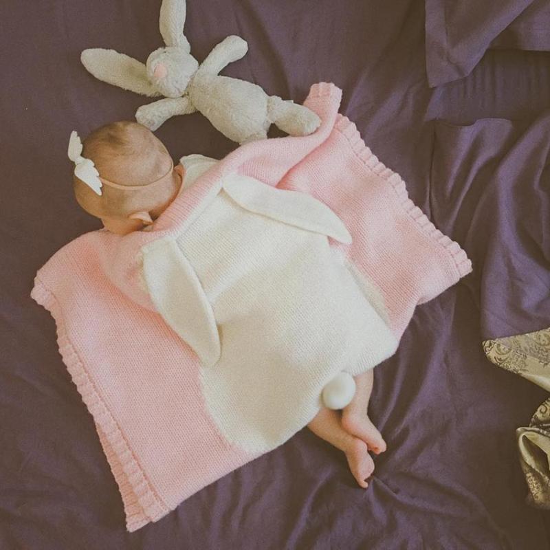 1 Stücke Nette Baby Decken Kleinkinder Kinder Kaninchen Weiche Warme Swaddling Bad Handtuch Schöne Neugeborenen Baby Bettwäsche Requisiten Baby Decken
