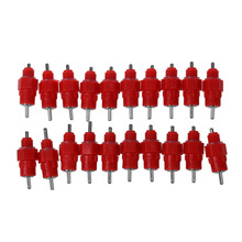 20 Pcs Water Nipple Drinker Chicken Feeder Poultry Supplies Hen Screw In Style