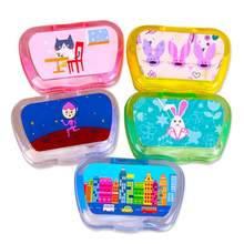 Portable Contact Lens Box Travel Glasses Cartoon Pattern Storage Containers Kit(China)