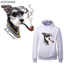 ZOTOONE Cartoon Dog Patch Heat Transfers Washable Stickers Badges New Design Appliques Animal Patches For Clothes T-shirt DIY E