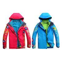 Women 3 in 1 Dual Layer Warm Waterproof Windproof Skiing Clothes Jacket