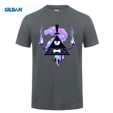 GILDAN Gravity Falls Men T-shirt Halloween t shirt Cartoon Printed Short Sleeves Tops Tee