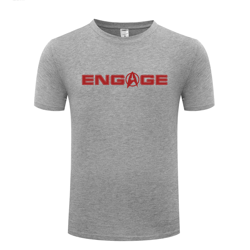 Tee /'Engage/'  Captain Jean-Luc Picard T-shirt Star Trek Next Generation