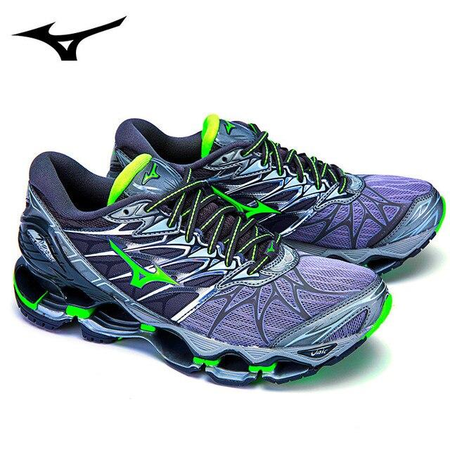 db79ba1f3 Mizuno Wave Prophecy 7 Professional Sneakers Green Colors Men Shoes Running  Shoes Tenis Mizuno for Men