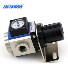 купить Pneumatic pressure regulating valve GR200-08 Pressure reducing valve built-in pressure gauge по цене 1172.36 рублей