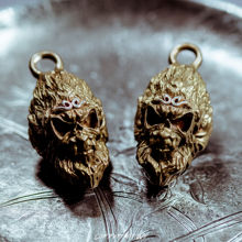 Brass with silver Monkey King Key Chain Vintage Handmade Pendant metal Keychains Ring car key holder