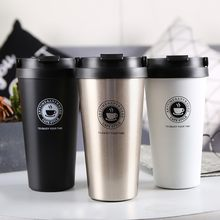 2019 Double Wall Stainless Steel Vacuum Flasks 500ml Thermo Cup Coffee Tea Milk Travel Mug Thermol Bottle Thermocup thermoses(China)