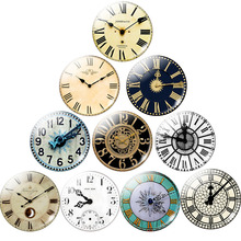 Round Photo Retro Clock Pocket Watch Pattern Glass Cabochon for DIY Jewelry Vintage Clock 25MM Demo Flat Back Making Findings