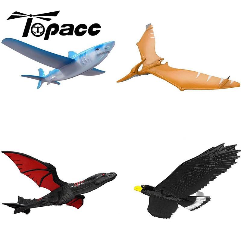 EPP Foam Hand Throw Airplane Outdoor Launch Plane Kids Gift Toy 48CM Interesting Toys Aircraft Inertia Dragon Eagle Shark Model