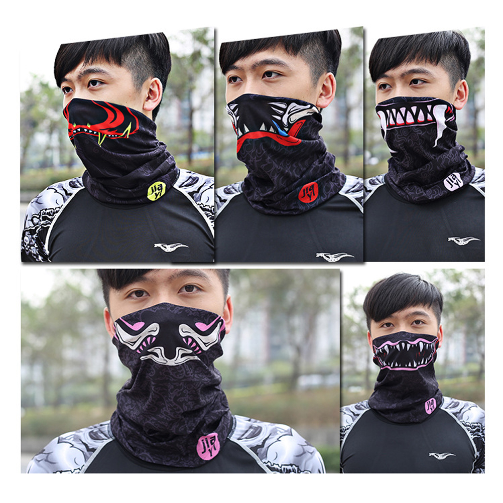 1 Pc Außen Gesicht Maske Atmungsaktive Mikrofaser Headwear Kopf Wrap Staub Maske Hals Gamasche Für Motorrad Reiten Skifahren Snowboarden