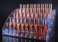 Removable Multi-layer Acrylic Clear Nail Polish Cosmetic Varnish Display Stand Holder Lipstick Manicure Tool Organizer Storage 1 pcs 6 tiers removable nail polish shelf acrylic clear cosmetic varnish display stand rack holder women makeup organizer case