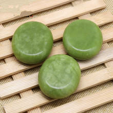 Olive jade energy stone natural massage volcanic glaze