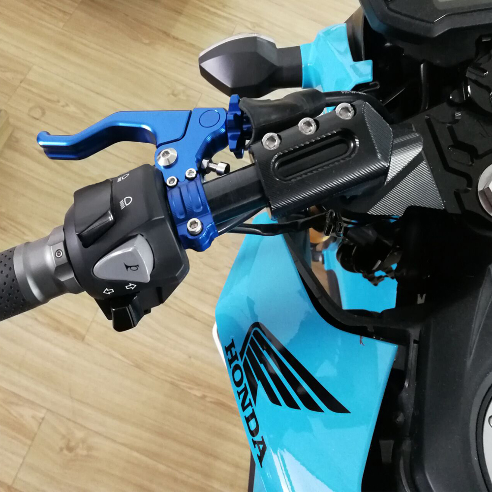 Color : Red Motorcycle 22mm Short Stunt Clutch Lever Cable Performance Easy Pull Left Lever For Honda Grom SUZUKI RM125 DMZ250 YAMAHA YZ250 FJY-GAN