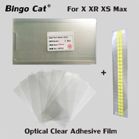 50pcs/Lot 250um OCA Optical Clear Adhesive for iPhone XS Max XSM XR OCA Glue Touch Glass Lens Film easy tear stickers