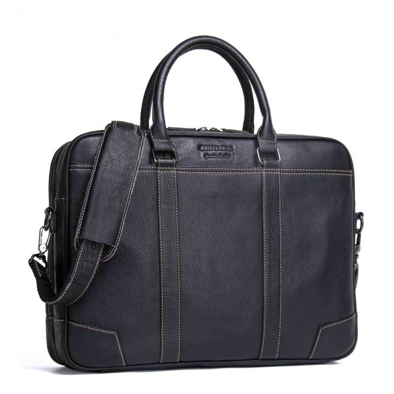 2019 Men Business Handbags Affairs Briefcases Man 100% Genuine Leather Single Shoulder Package Male Portable Office Work Bags