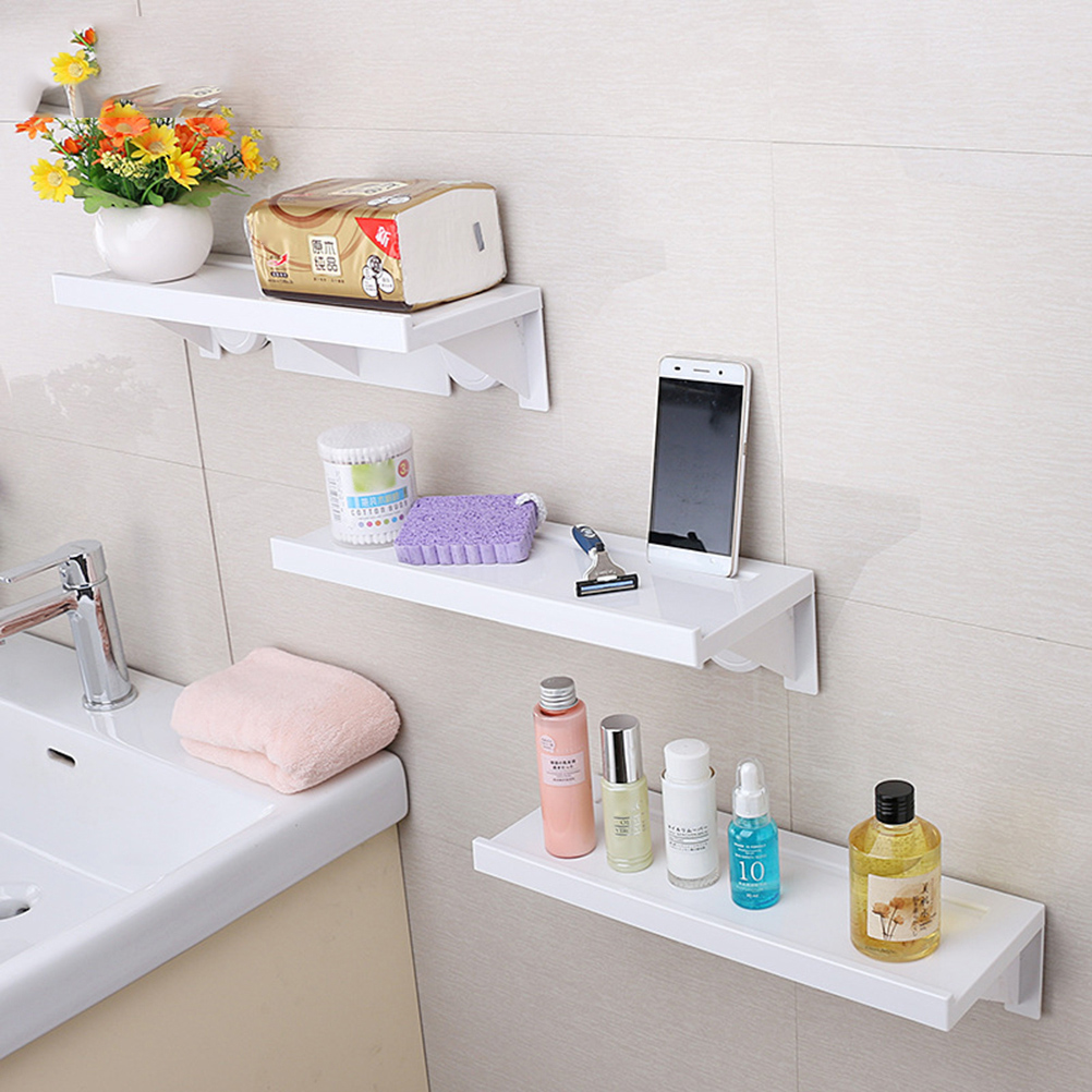 1pcs Suction Cup Rack Toilet Bathroom Shelf DIY Multifunction Organizer Storage Box Pen Cellphone Holder shelf