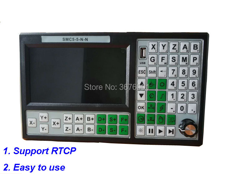 Free Shipping CNC 5Axis 500KHz Stand Alone Motion Controller Offline Breakout Board Support RTCP Replace Mach3