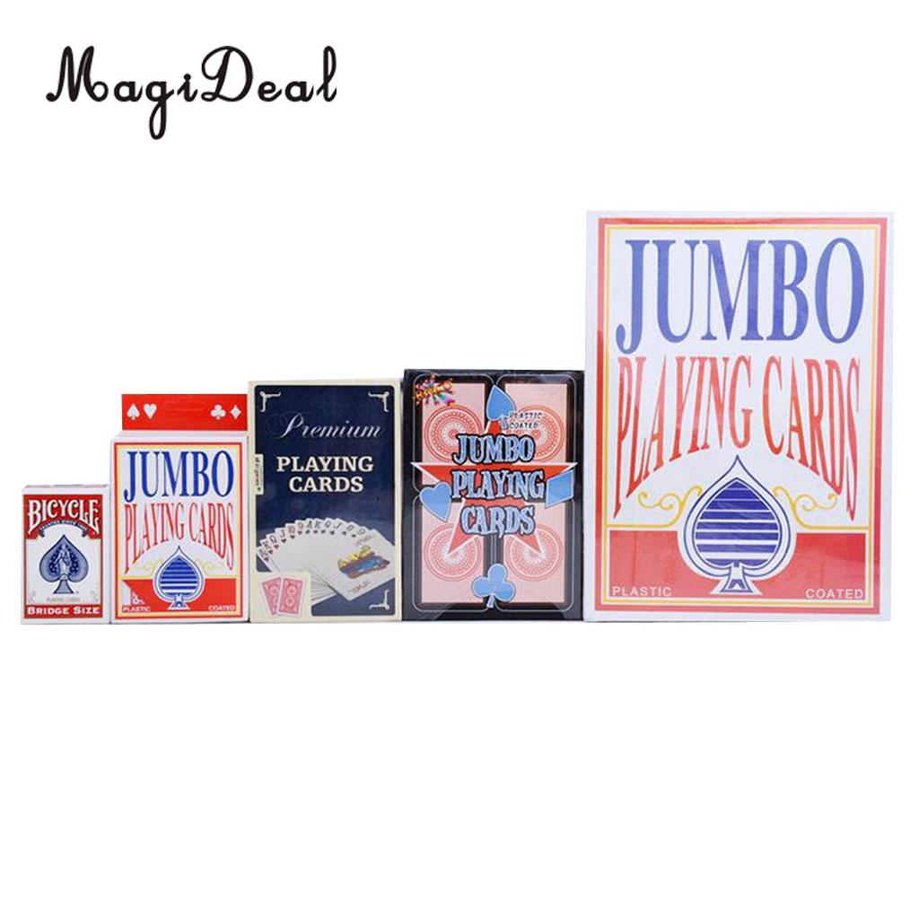 Deck of Giant Jumbo Playing Cards Poker Outdoor Garden BBQ Game 17cm for Camping Hiking Travell Family Games Accessories