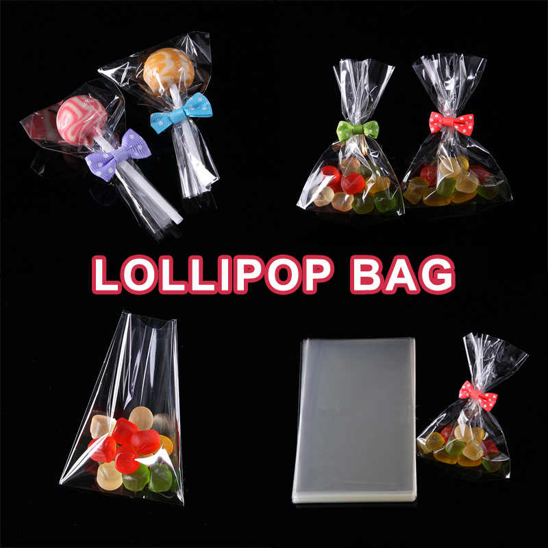 Small Plastic Bags Gift Boxes Gift Bag Poly Opp Cellophane Bag Cookie Packaging Open Top Wedding Favor Candy Lollipop