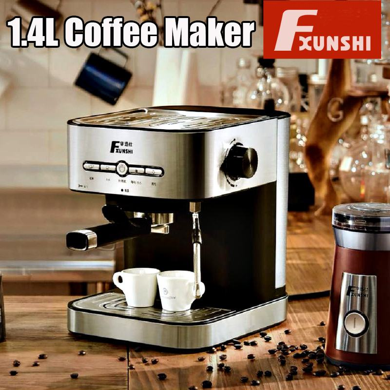 1.4L Electric Coffee Maker Semiautomatic Espresso Milk Bubble Home Office Electric Italian Coffee Machine Milk Frother 950W New1.4L Electric Coffee Maker Semiautomatic Espresso Milk Bubble Home Office Electric Italian Coffee Machine Milk Frother 950W New