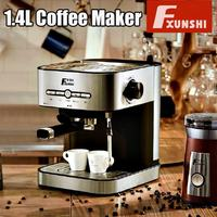 1.4L Electric Coffee Maker Semiautomatic Espresso Milk Bubble Home Office Electric Italian Coffee Machine Milk Frother 950W New