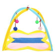 2019 New Cat Play Tent Hammocks Sleep Bed Foldable Kitten Mat with Balls Pets Toys Playing Toy Pad Dog House Bells