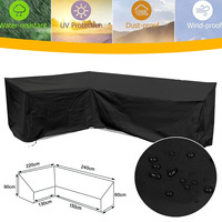 220x240cm L Shape Corner Sofa Couch Cover Dustproof Waterproof Covers for Garden Outdoor Supplies Black/Green/Silver