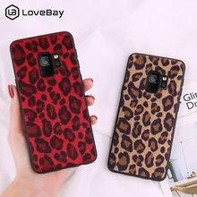 0f9f2e71590 Lovebay para Samsung Galaxy Note 8 9 S8 S9 Plus funda estampado de leopardo  peluche tela