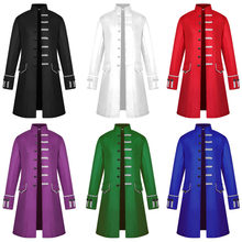 6Colors Medieval Costume Renaissance Men Gown Church Roleplay Haori Friar Robe Christian Mantle Halloween Purim Priest Frock(China)