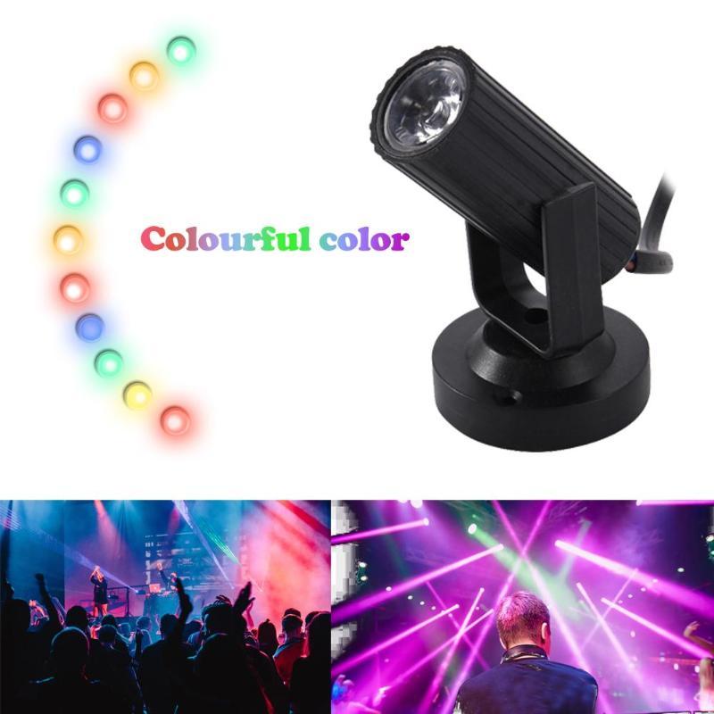 Stage Spotlight Lamp KTV Bar 1W AC 85-265V 50/60Hz LED Music Festival Party Lighting Effect Beam Light Decoration Dropshipping
