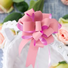 10pcs/set Pull Bow Gift Ribbons Flower Wrappers For Wedding